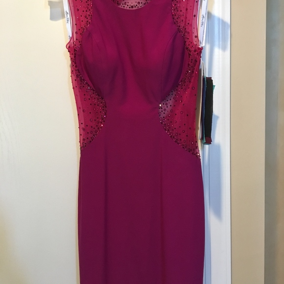 Mon Cheri Dresses & Skirts - Mon Cheri Mesh and Rhinestone dress
